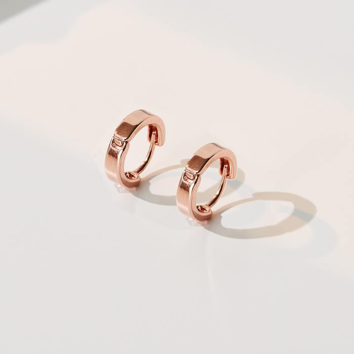 玫瑰金小圈。針式耳環【2-19250】 精選系列|玫瑰金系列|耳環|當天出貨